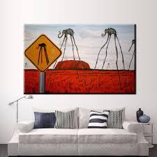 Xdr588 Die Elefanten Salvador Dali Trippy Kunst Leinwand Stoff