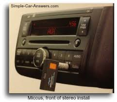 how to connect phone to car stereo use a miccus mini jack how the miccus mini jack looks installed