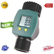 garden hose flow meter. Water Flow Meter Sensor LCD Display Consumption Control Gallon Yard Garden Hose | EBay L