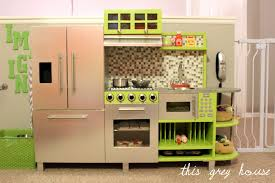 Kitchen Bookcase Kids Space This Grey House Thisgreyhouse Diy Play Kitchen Bookcase