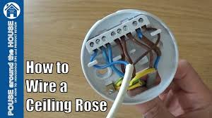 Ceiling Light Ground Wire How To Wire A Ceiling Rose Lighting Circuits Explained Ceiling Rose Pendant Install