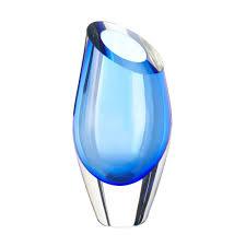 Modern Glass Vases Glass Vases Modern Blue Colored Flower Vases Decorative For