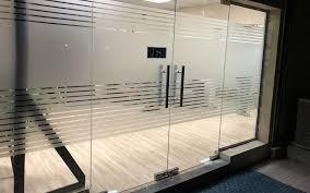 glass door work