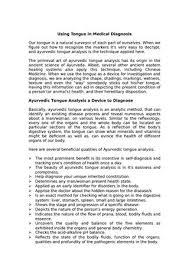 Ayurveda Tongue Chart Ayurvedic Tongue Analysis By Therhythmsoflife Issuu