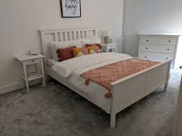 white king size bed frame ikea in