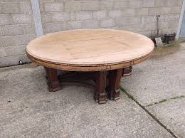 huge antique round table 7ft 2 metre diameter victorian arts and crafts round oak dining table to seat 14 people