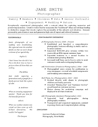 Photography Resume Unique Freelance Photographer Resume