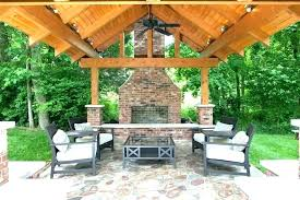 deck fireplace covered outside fireplace ideas