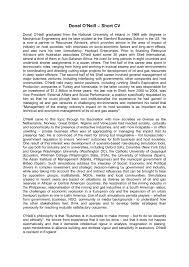 short cv inspirenow archives from html ashort cv of donal o neil sep