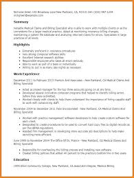 Medical Billing Job Description For Resume Beautiful Sample Cover Enchanting Employment Specialist Resume