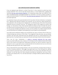 Law School Admissions Personal Statement personal statement format law