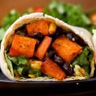 black bean and sweet potato burritos light