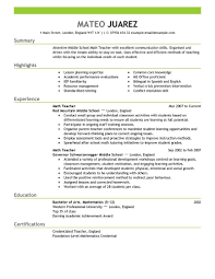 Federal Format Resume Resume Usa Simple Resume Template 8