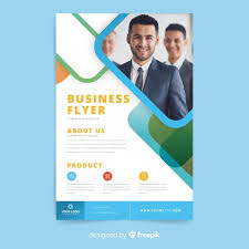 Business Flyer Template Free Download Free Elegant Business Flyer Template With Photo Svg Dxf Eps