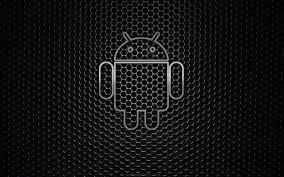 Black Android Logo Wallpaper Hd
