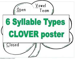 6 Syllable Types Chart Syllable Types Anchor Chart Worksheets Teaching Resources
