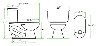 elongated toilet bowl dimensions. round bowl toilet dimensions designs elongated l