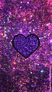 glitter heart phone wallpaper sparkling background bling shimmer sparkles glitter glittery colorful purple pink shimmering