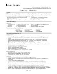 Food Service Resume Template Food Service Manager Resume Free Resume Templates 3