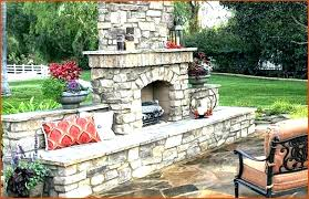 outdoor stone grill outdoor fireplace grill build