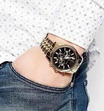 michael kors lexington mk8286 wrist watch for men michael kors lexington chronograph black dial gold tone mens watch mk8286