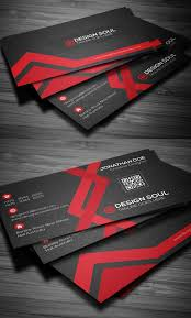 Sample Of Business Card Template Flat Business Card