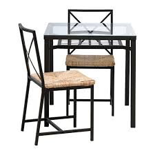 grans table and 2 chairs ikea the table top made of tempered glass is easy to black ikea glass top