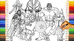 The avengers is a group of superheroes from the marvel comics. The Avengers Age Of Ultron Team The Avengers Coloring Pages Sailany Coloring Kids Youtube