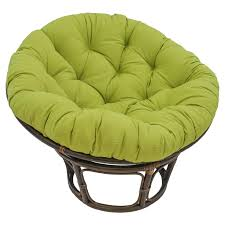 International Caravan Papasan Chair with Solid Micro Suede Cushion - 42 in.  | Hayneedle