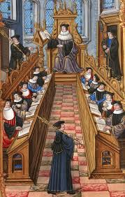 academic degree meeting of doctors at the university of paris 16th century miniature