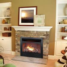 ventless natural gas fireplace insert stylish vent free propane logs mountain regarding 23