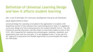 Design For Learning Universal Design For Learning Differentiation Instruction