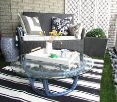 contemporary patio design minimalist furniture small space