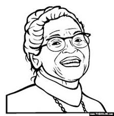 Small Picture Free printable Rosa Parks coloring sheet is one of many Black