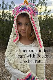Free Crochet Pattern For Hooded Scarf With Pockets