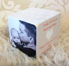 personalised square photo cube for dad or daddy