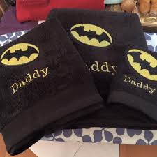 Free Batman Machine Embroidery Designs Embroidered Towels With Batman Logo Design Super Hero And