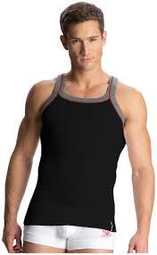 Jockey Black Grey Melange Vest Style Number Us54