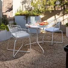 soleil metal outdoor bistro dining set