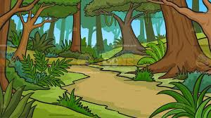 jungle background clipart. Beautiful Clipart A Lush Jungle Background Cartoon Clipart To A
