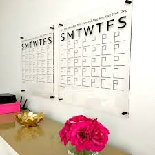acrylic calendar dry erase board large