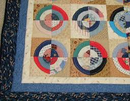 Memory and Memorial Quilts made from clothing & Antique Circle Memory Quilt Closeup Adamdwight.com