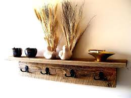 rustic coat rack with shelf rustic wood wall hung coat hanger with shelf and black iron