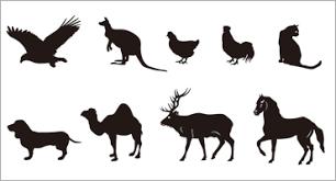 商用利用可の犬猫鳥馬など動物のシルエットのベクター素材 コリス
