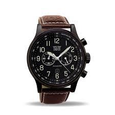men s aviator watch black chronograph waterresist 50m brown men s aviator watch black chronograph waterresist 50m brown leather strap davis 0452br