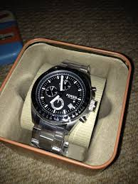 """men s fossil decker chronograph watch ch2600ie watch shop comâ""""¢ great watch for the price looks expensive mature and fairly simple size of the face is perfect and the strap is a good size nicely packaged"""