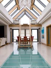 channel islands glass railing cost with chrome pendant lights hall contemporary and ceiling