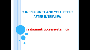 3 thank you letter format after interview sample 3 thank you letter format after interview sample