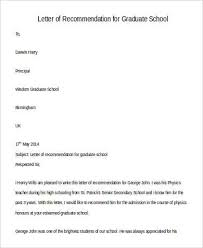 Letter Of Recommendation For Sample Request For Letter Of Recommendation For Graduate School