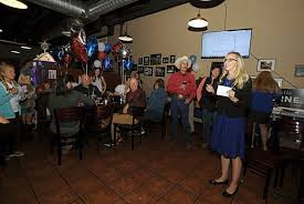 janelle horne speaks to her supporters gathered at the placerville pizza factory on election night krysten kellum mountain democrat